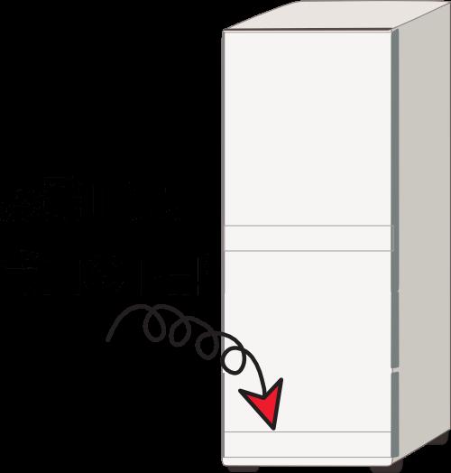 冷蔵庫の蒸発皿は背面の下部