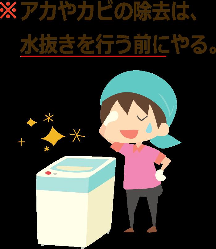 洗濯機の掃除